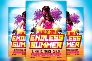 Endless Summer Party Flyer Template