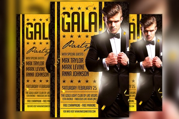 Gala Night Party Flyer Template