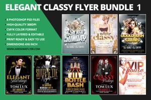Elegant Classy Flyer Template Bundle 1