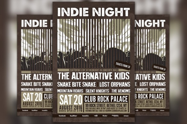 Indie Party Flyer Template