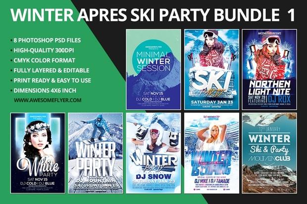 Winter Flyer Template Bundle