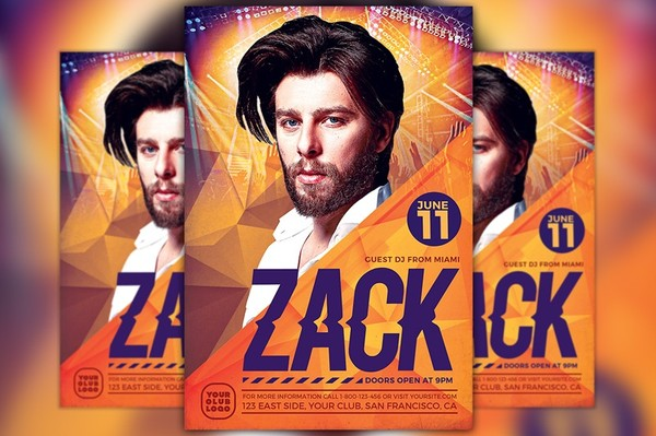 DJ Zack Party Flyer Template