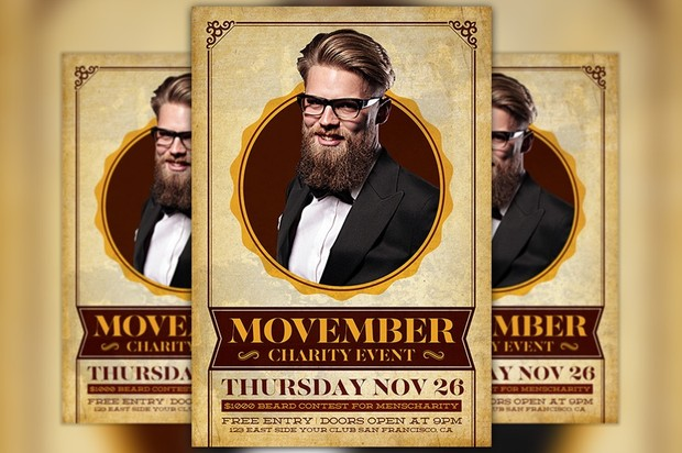 Movember Charity Event Flyer Template