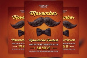 Movember Mustache Contest Flyer Template