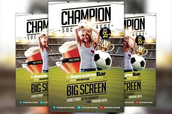 Champion League  Soccer Flyer Template
