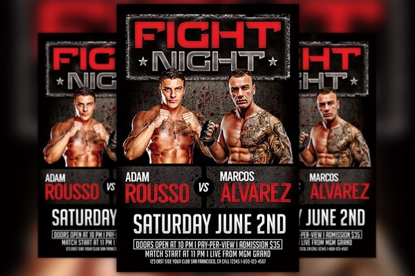 MMA Match Flyer Template
