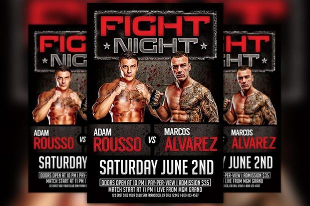 MMA Match Flyer Template