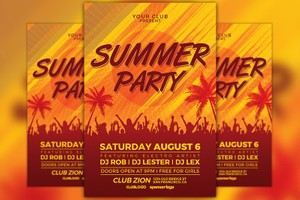 Summer Party Flyer Template Vol.3