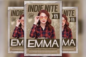 Indie Artist Flyer Template