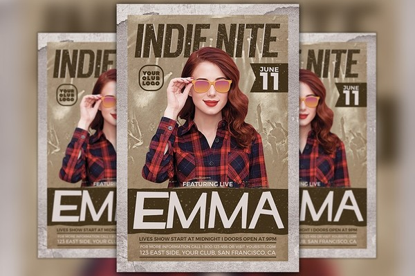 Indie Artist Flyer Template