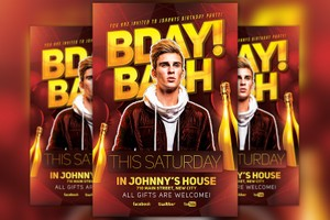 Bday Bash Party Flyer Template