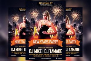 New Years Party Flyer Template