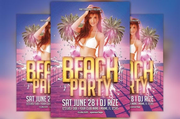 Beach Party Flyer Template Vol.1