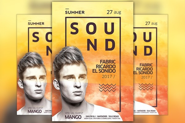 Electro DJ Flyer and Poster Template