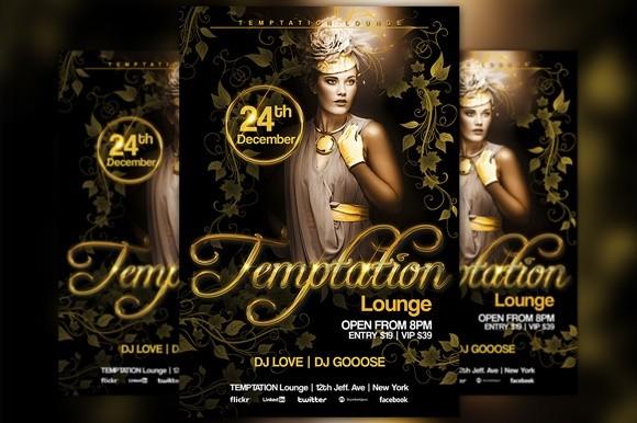 Temptation Lounge Flyer Template