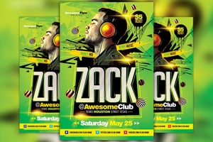 DJ Live Performance Flyer Template