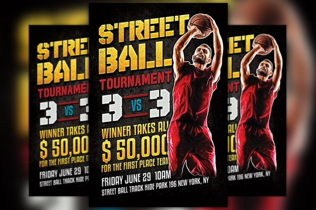 Street Ball Football Flyer Template