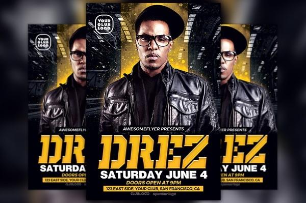 Hip Hop Beats and Dj Flyer Template
