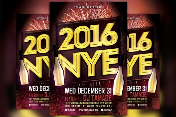nye 2016 flyer template awesomeflyer