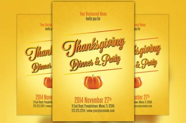 Minimal Thanksgiving Flyer Template