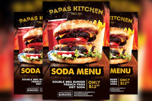 Burger and Fries Special Flyer Template