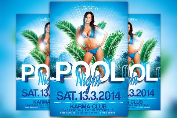 pool party flyer template awesomeflyer