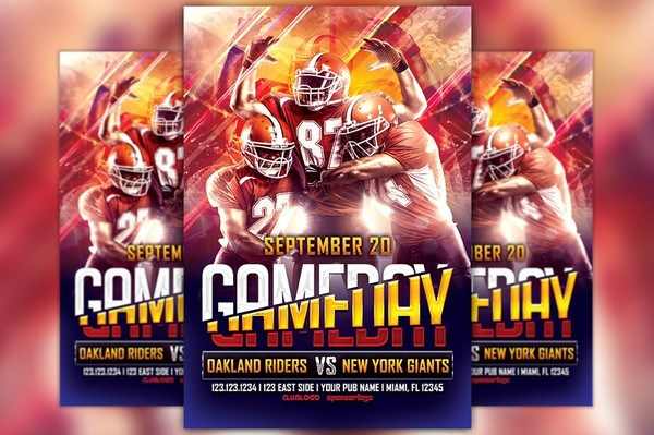 Football Game Day Flyer Template