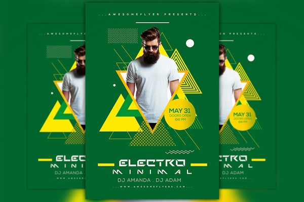 Minimal Electro Flyer Template