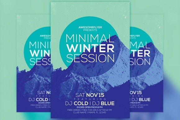 Minimal Winter Party Flyer Template