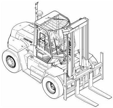 Hyster H12.00XM, H13.00XM, H14.00XM, H16.00XM Forklift Truck F019 Series Workshop Service Manual