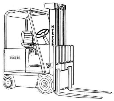 Hyster E20B, E25B, E30BS Electric Forklift Truck B114 Series Spare Parts Manual