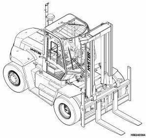 Hyster H300HD, H330HD, H360HD (-EC) Diesel Forklift Truck E019 Series Workshop Service Manual (USA)