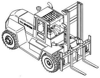 Hyster H13.00XL, H14.00XL, H16.00XL Forklift Truck C019 Series Workshop Service Manual (Europe)