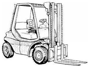 Linde H20, H25, H30, H35 D/T Diesel and LPG Forklift T