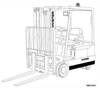 Hyster J30XMT2, J35XMT2, J40XMT2 Electric Forklift Truck H160 Series Workshop Service Manual