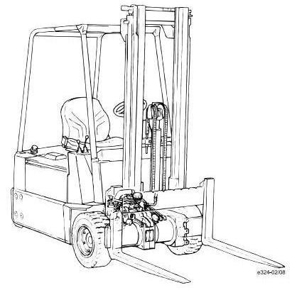Linde E12, E15, E16 Electric ForkLift Truck 324-02 Ser