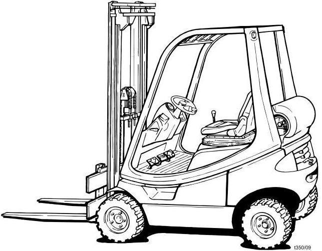 Linde H12T, H16T, H18T LPG Forklift Truck 350-02 serie