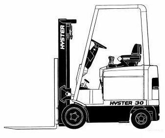 Hyster E25XM, E30XM, E35XM, E40XMS Electric Forklift Truck D114 Series Workshop Service Manual (USA)
