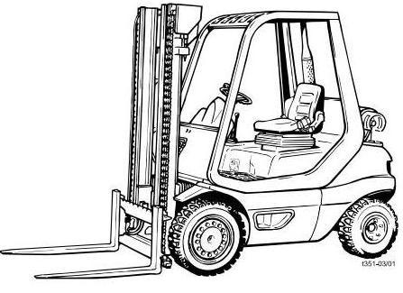 Linde H20T, H25T, H30T, H35T (Perkins LPG) Forklift Tr