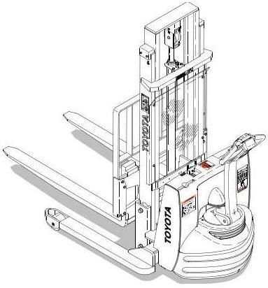 Toyota 7BWS10, 7BWS13 Electric Walkie Pallet Truck (SN:40500-) Workshop Service Manual (CL3WS-06)