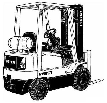 Hyster H1.50XM, H1.75XM, H2.00XMS Forklift Truck E001 Series Workshop Service Manual (Europe)