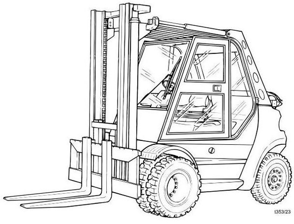 Linde H50T, H60T, H70T, H80T, H80T/900 LPG Forklift truck 353 series Operating Instructions (Manual)