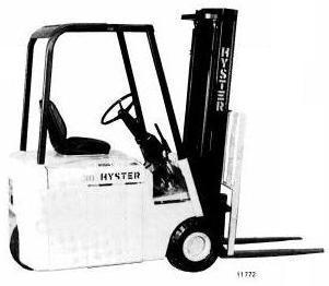 Hyster J25B, J30B, J30BS, J35B Electric Forklift Truck B160 Series Spare Parts Manual