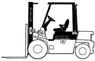 Hyster H40XL, H50XL, H60XL Diesel/LPG Forklift Truck B