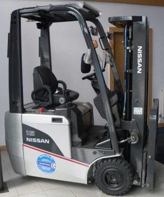 Nissan A1N1L15/18, AS1N1L13/15, G1N1L16/18/20,JAG1N1L16/18/20 Electric Forklift Truck Service Manual