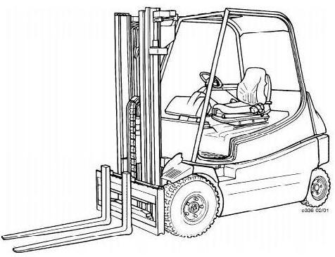 Linde E20, E25, E30 Electric Forklift Truck 336-02 Ser