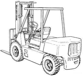 Hyster H30H, H40H, H50H, H60H Forklift Truck D003 Seri