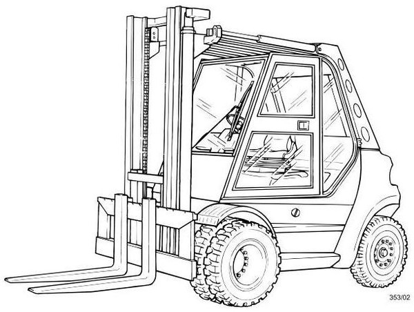 Linde H50D, H60D, H70D, H80D Diesel Forklift Truck 353 series Operating Instructions (User Manual)