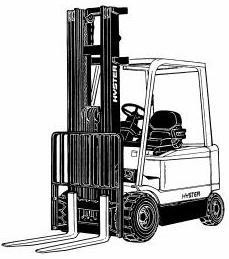 Hyster E45Z, E50Z, E55Z, E60Z, E65Z Electric Forklift Truck G108 Serie Workshop Service Manual (USA)