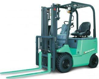Mitsubishi FB10,-14,-15,-18,-20,-25,-28,-30 CA Electric Forklift Truck Operating, Maintenance Manual